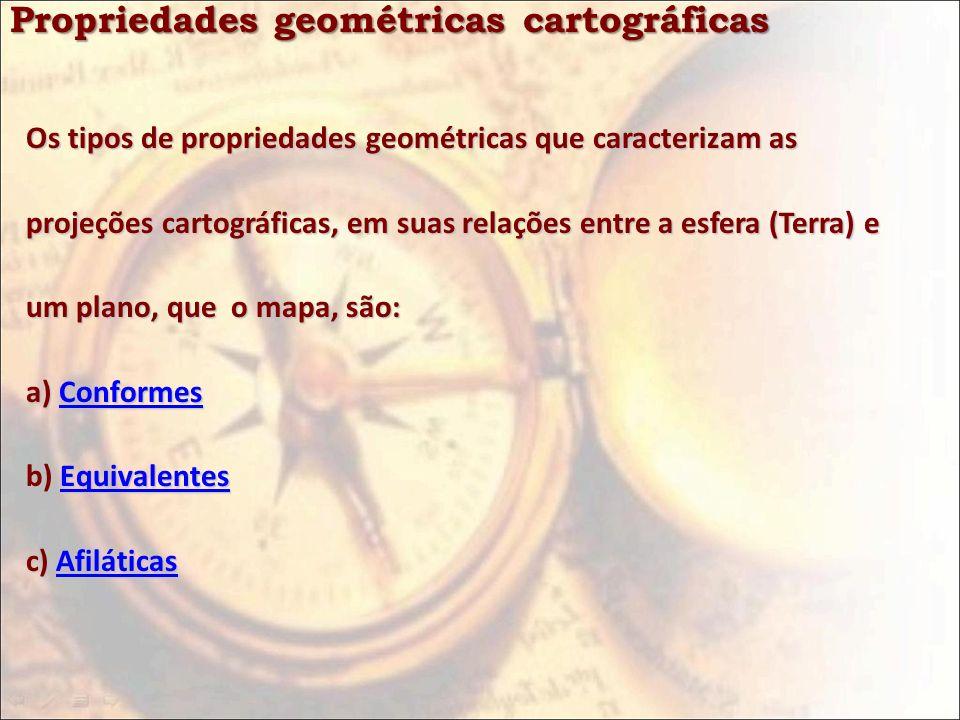 Propriedades geométricas cartográficas