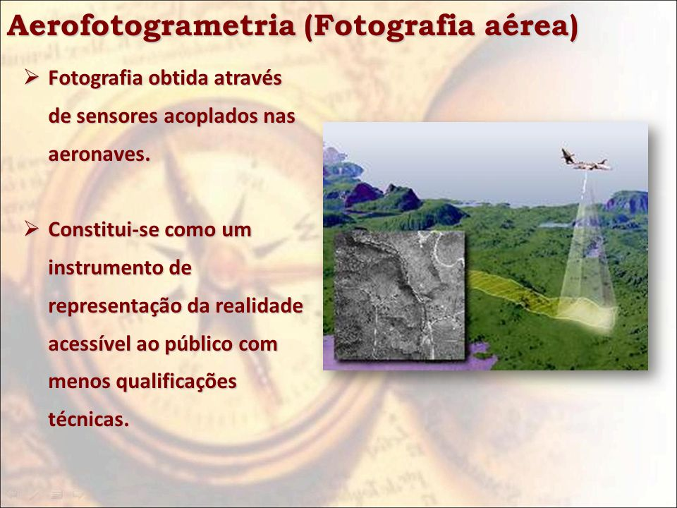 Aerofotogrametria (Fotografia aérea)