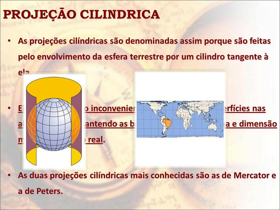 PROJEÇÃO CILINDRICA