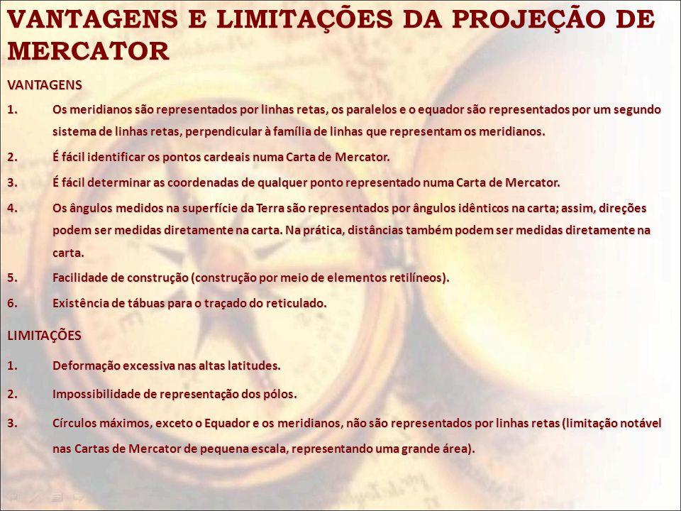VANTAGENS E LIMITAÇÕES DA PROJEÇÃO DE MERCATOR