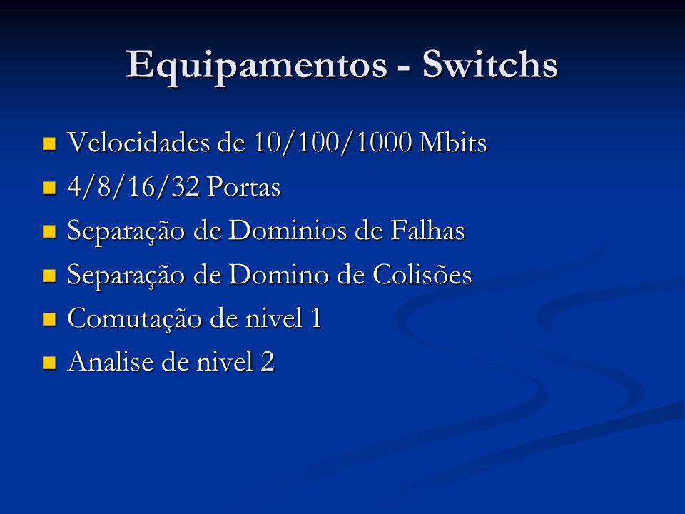 Equipamentos - Switchs