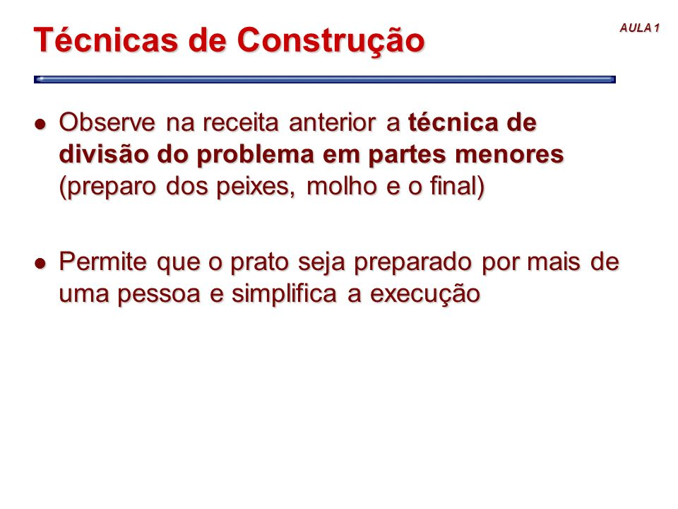 Técnicas de Construção