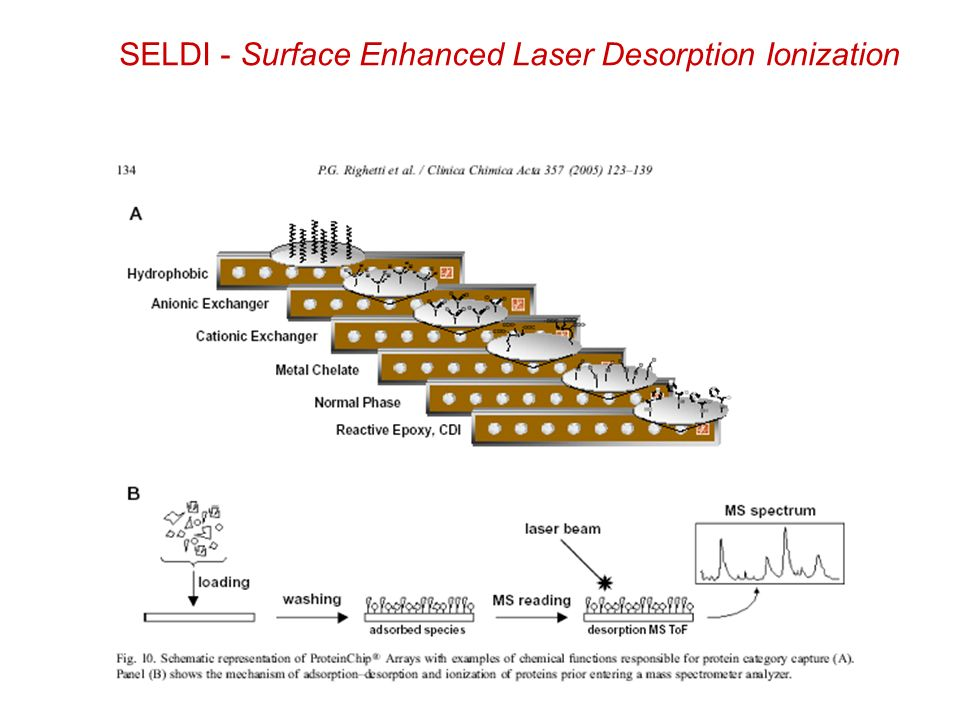 SELDI - Surface Enhanced Laser Desorption Ionization