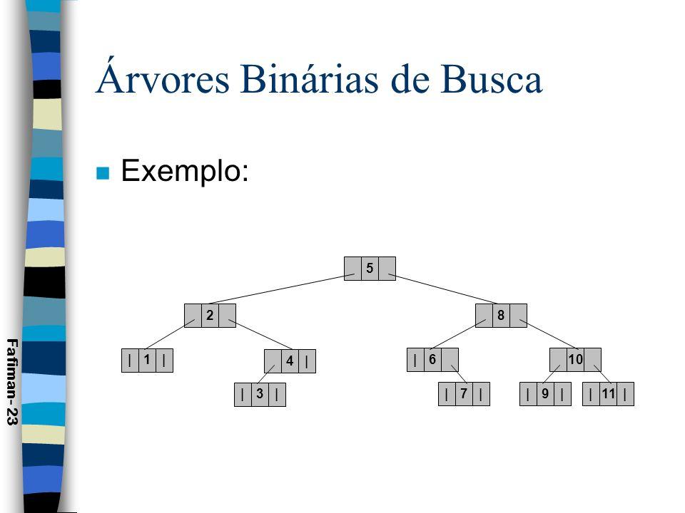 Árvores Binárias de Busca
