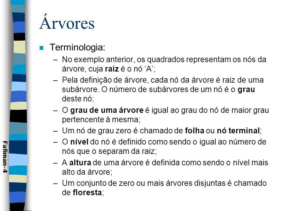 Árvores Terminologia: