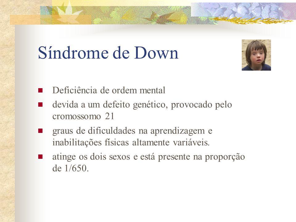 Síndrome de Down Deficiência de ordem mental