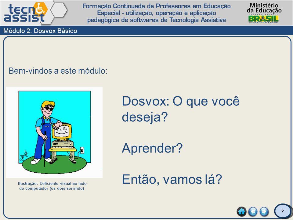 Dosvox: O que você deseja Aprender Então, vamos lá
