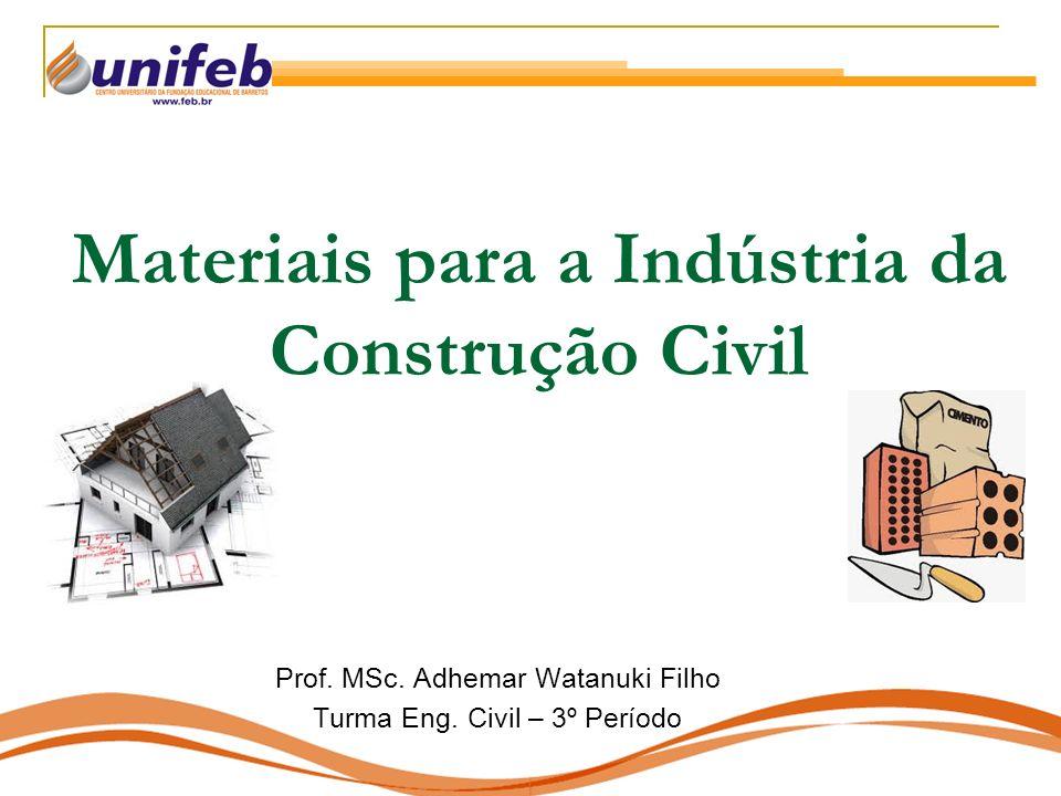 Materiais para a Indústria da Construção Civil