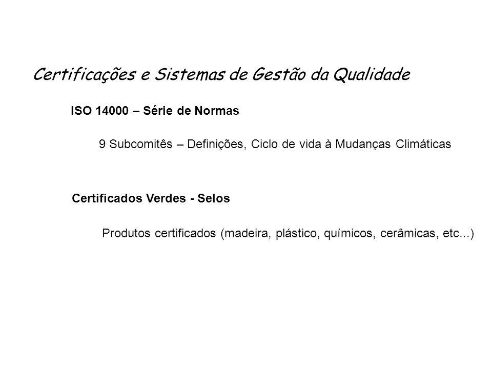 Certificações e Sistemas de Gestão da Qualidade