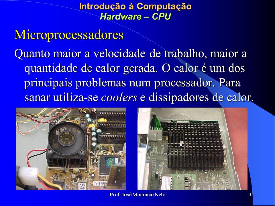 Introdução à Computação Hardware – CPU