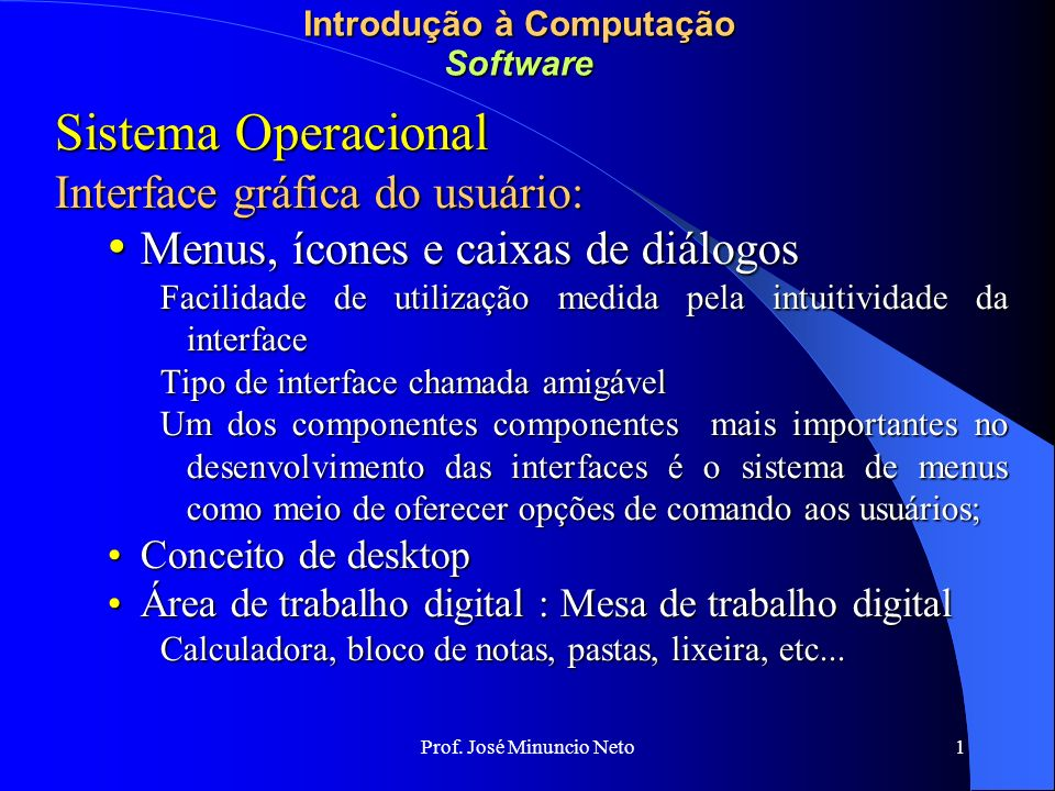 Introdução à Computação Software