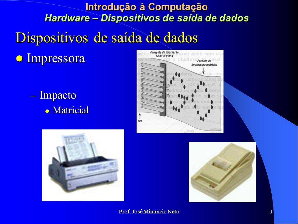 Introdução à Computação Hardware – Dispositivos de saída de dados