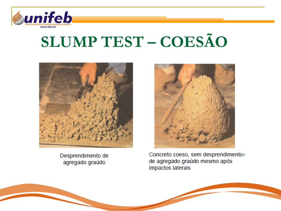 SLUMP TEST – COESÃO