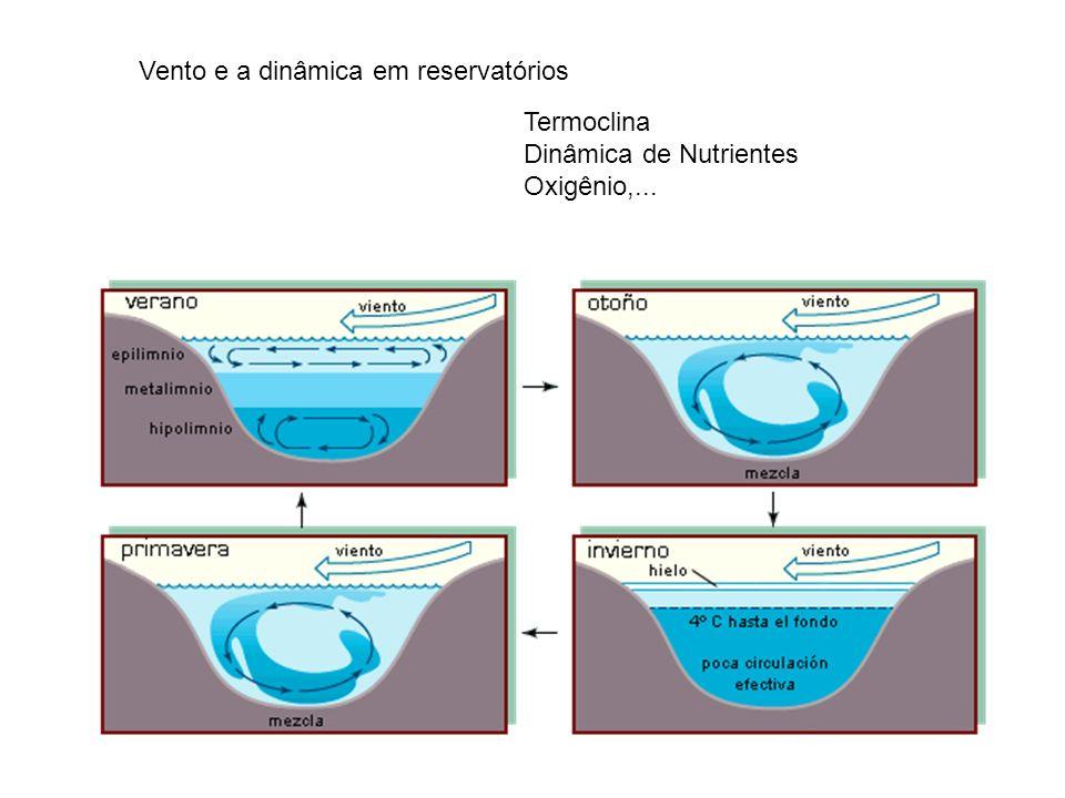 Vento e a dinâmica em reservatórios