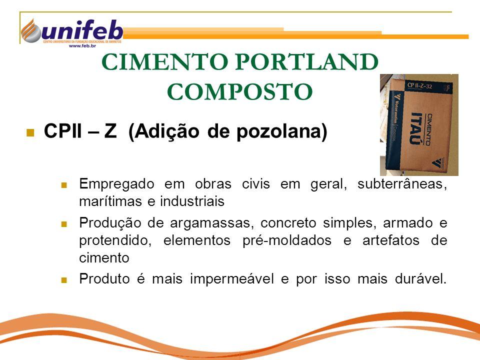 CIMENTO PORTLAND COMPOSTO
