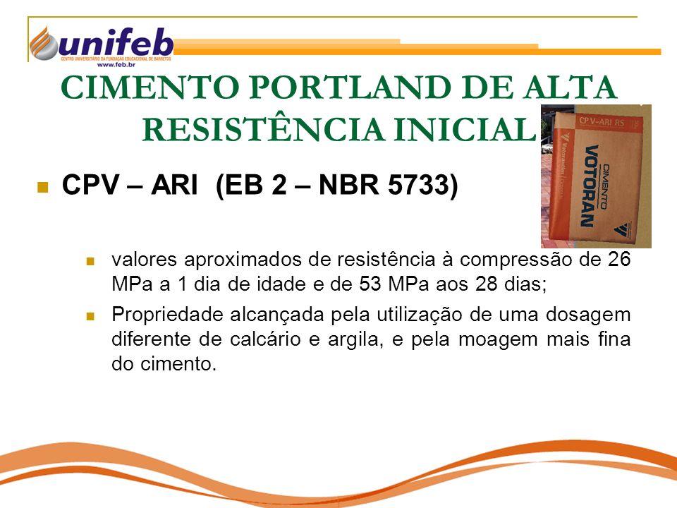 CIMENTO PORTLAND DE ALTA RESISTÊNCIA INICIAL