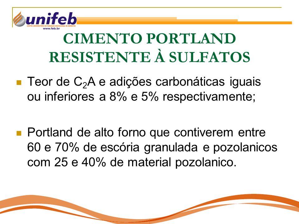CIMENTO PORTLAND RESISTENTE À SULFATOS