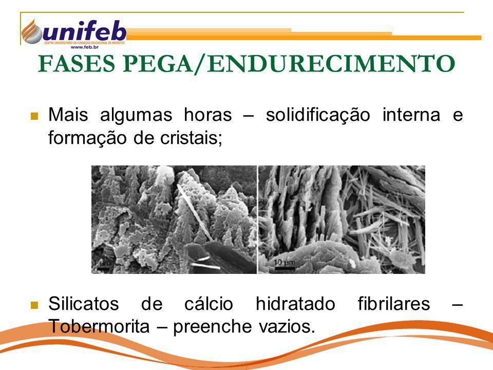 FASES PEGA/ENDURECIMENTO