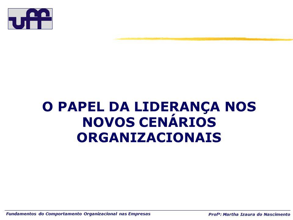 O PAPEL DA LIDERANÇA NOS NOVOS CENÁRIOS ORGANIZACIONAIS