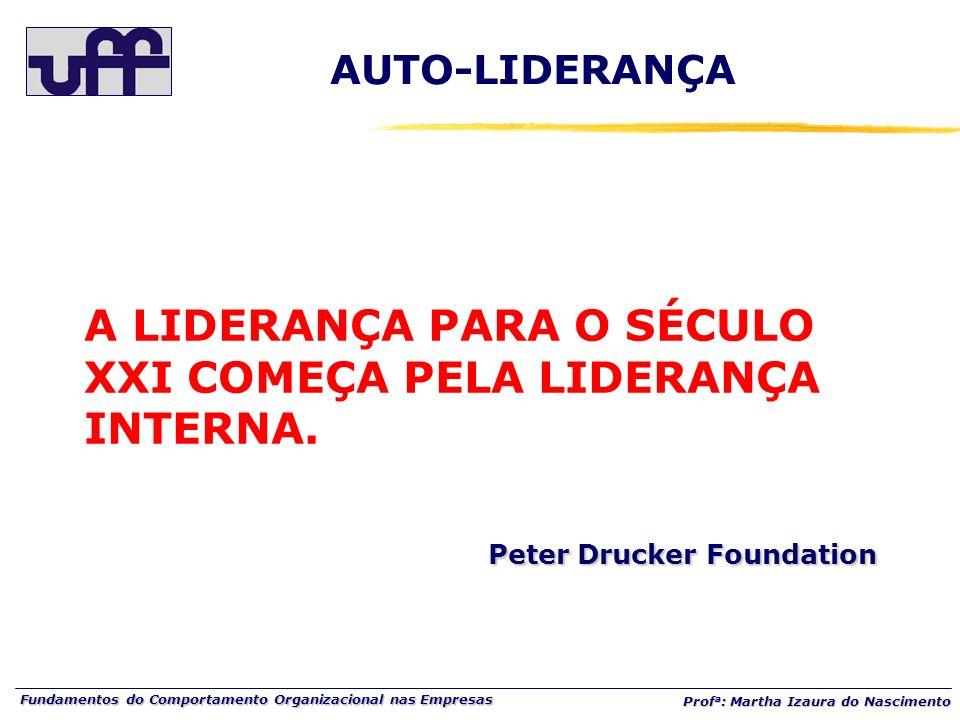 AUTO-LIDERANÇAA LIDERANÇA PARA O SÉCULO XXI COMEÇA PELA LIDERANÇA INTERNA.