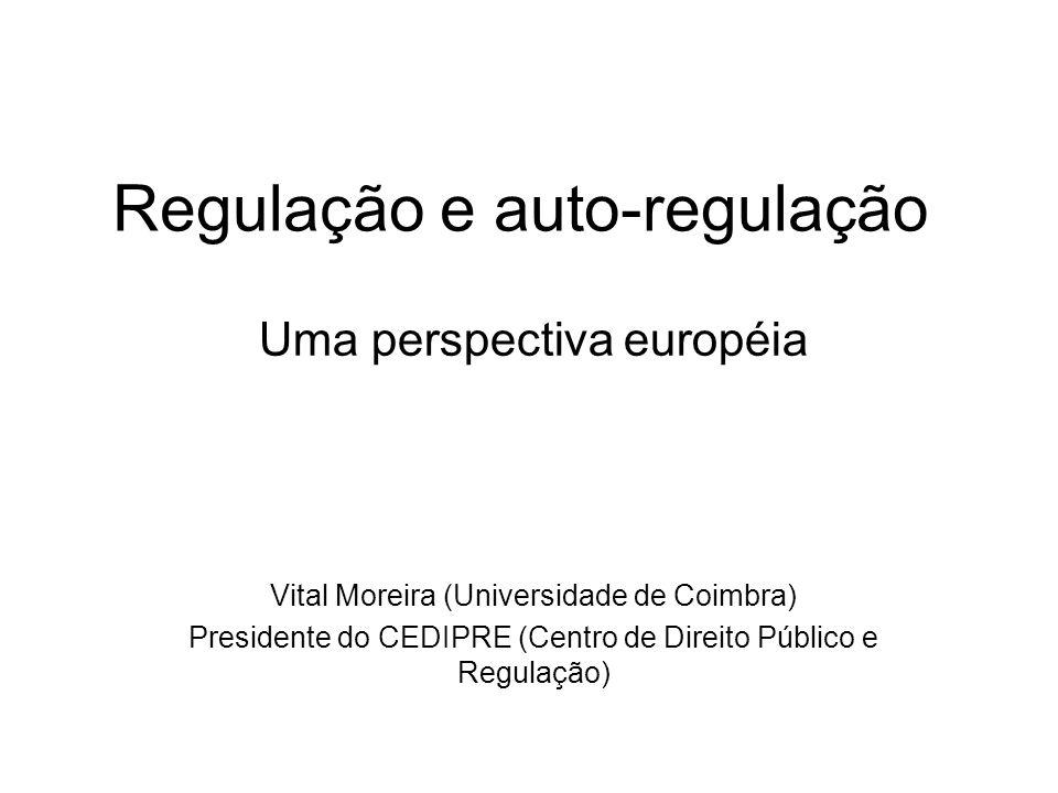 Regulação e auto-regulação