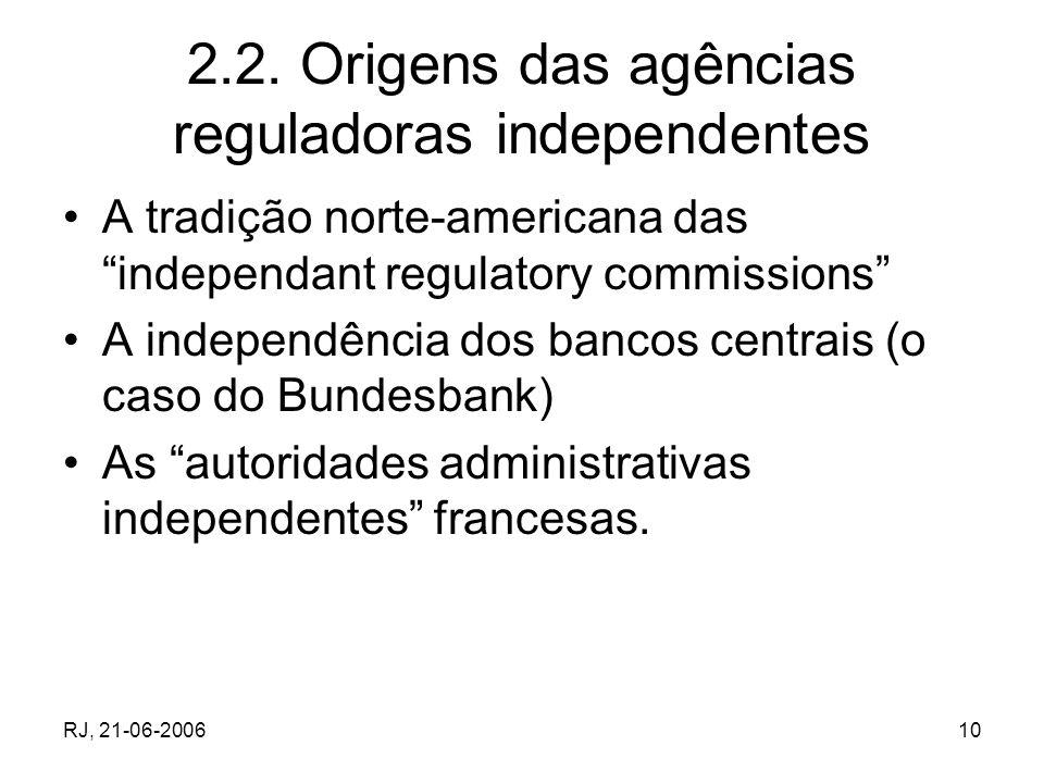 2.2. Origens das agências reguladoras independentes