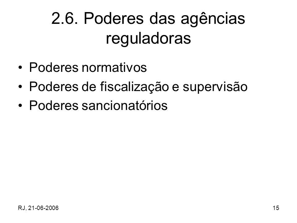 2.6. Poderes das agências reguladoras