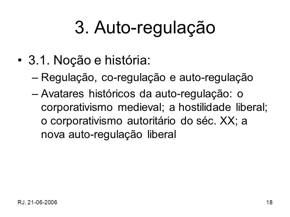3. Auto-regulação 3.1. Noção e história: