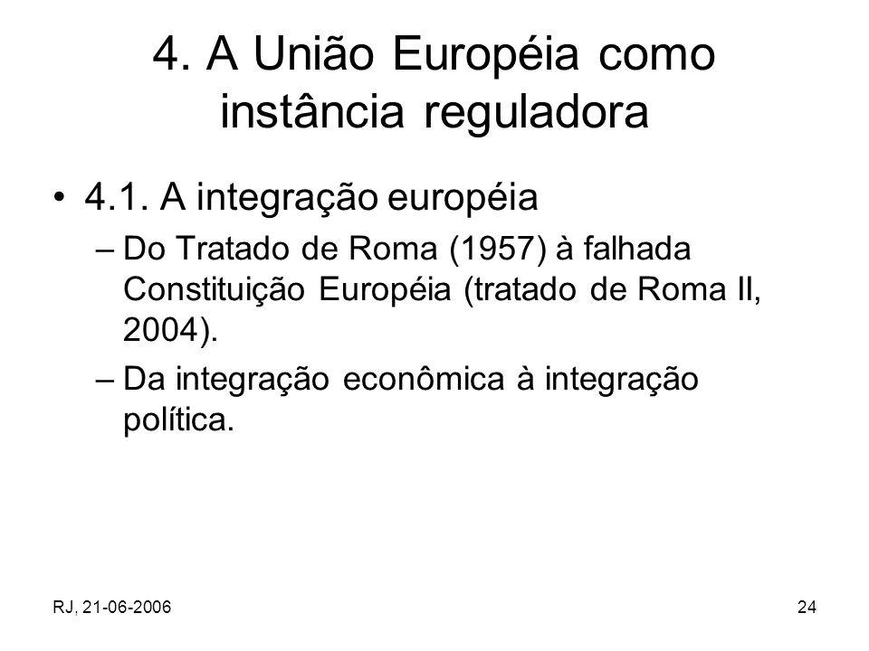4. A União Européia como instância reguladora