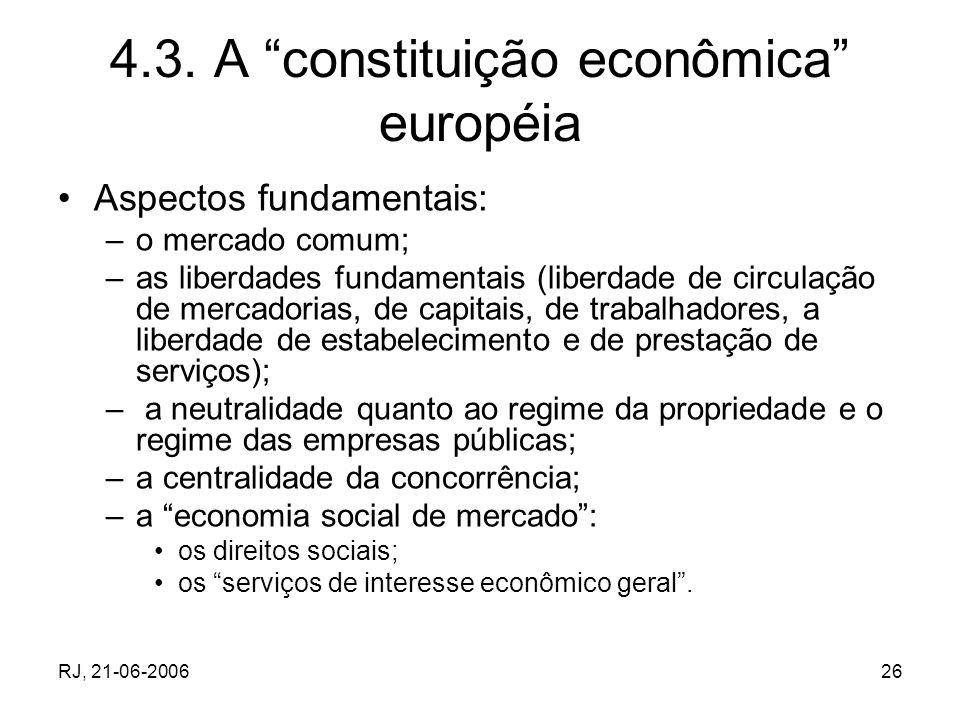 4.3. A constituição econômica européia