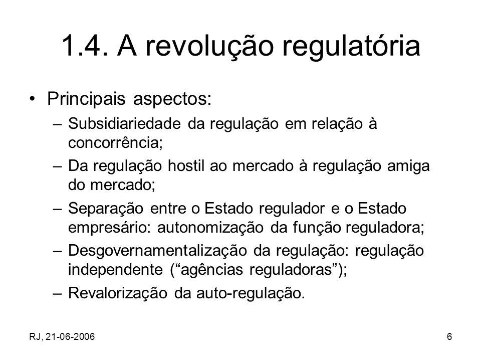 1.4. A revolução regulatória