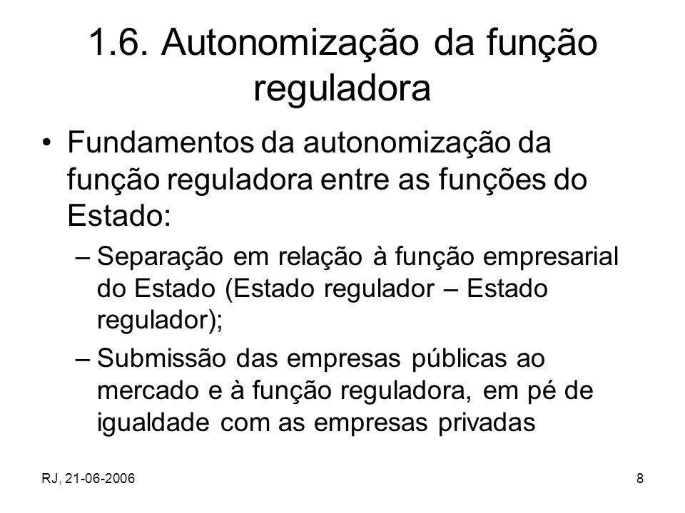 1.6. Autonomização da função reguladora
