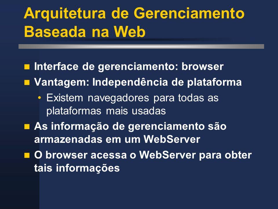 Arquitetura de Gerenciamento Baseada na Web