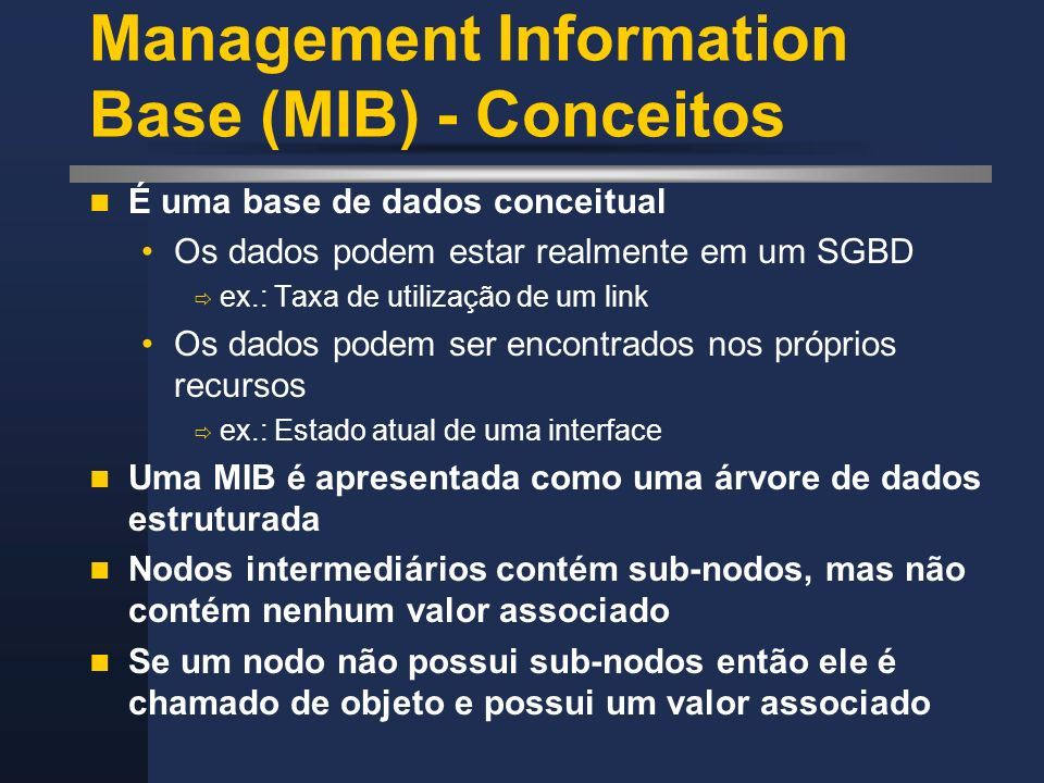 Management Information Base (MIB) - Conceitos