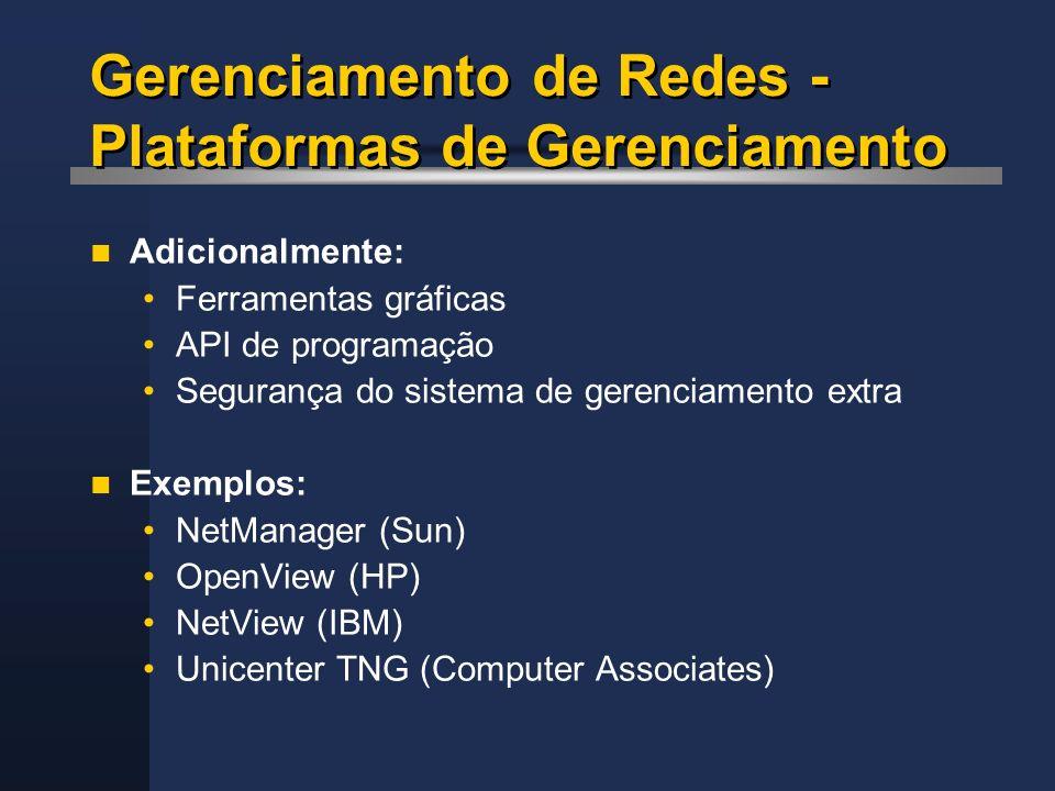 Gerenciamento de Redes - Plataformas de Gerenciamento
