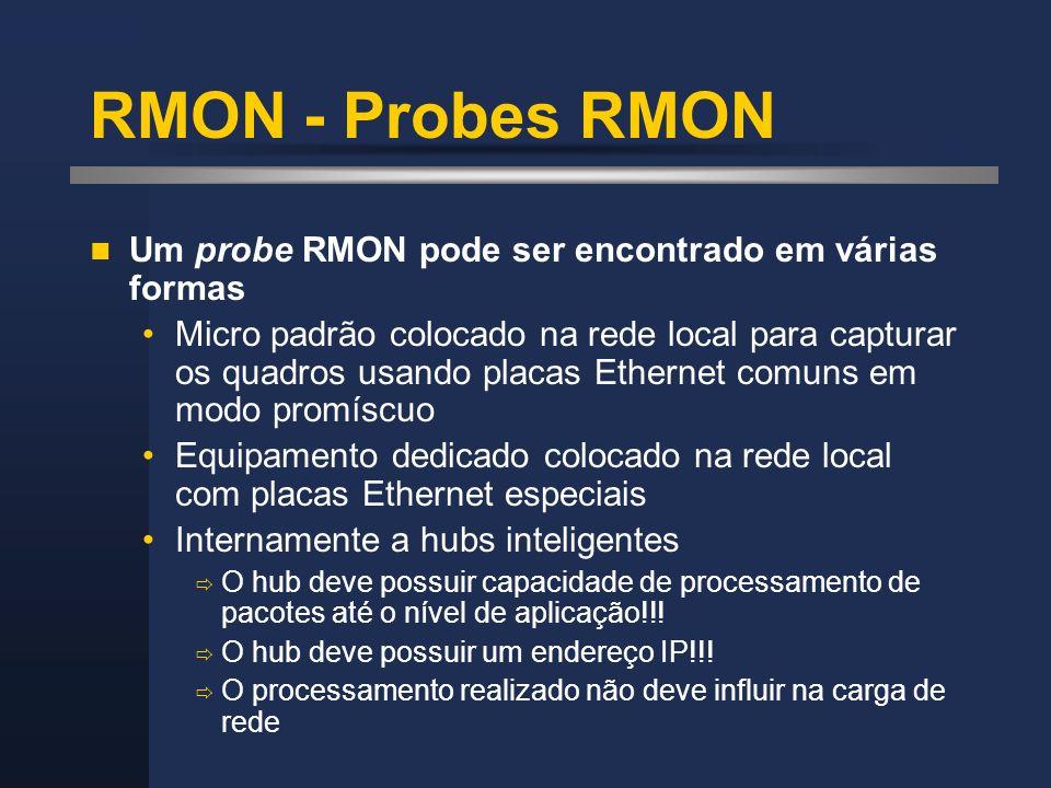 RMON - Probes RMON Um probe RMON pode ser encontrado em várias formas