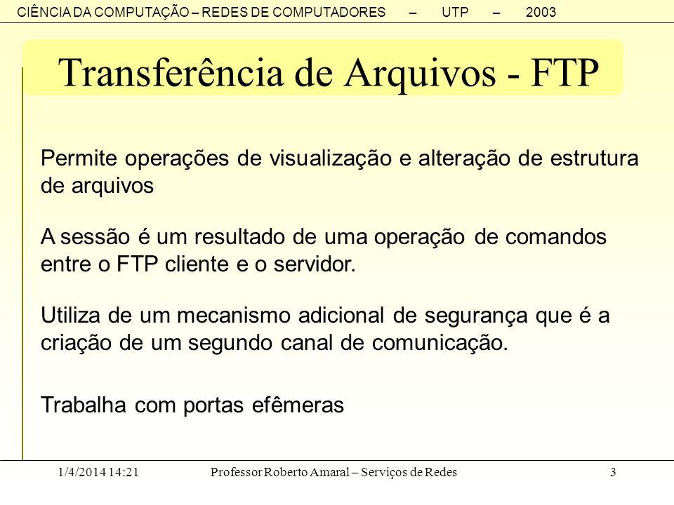 Transferência de Arquivos - FTP