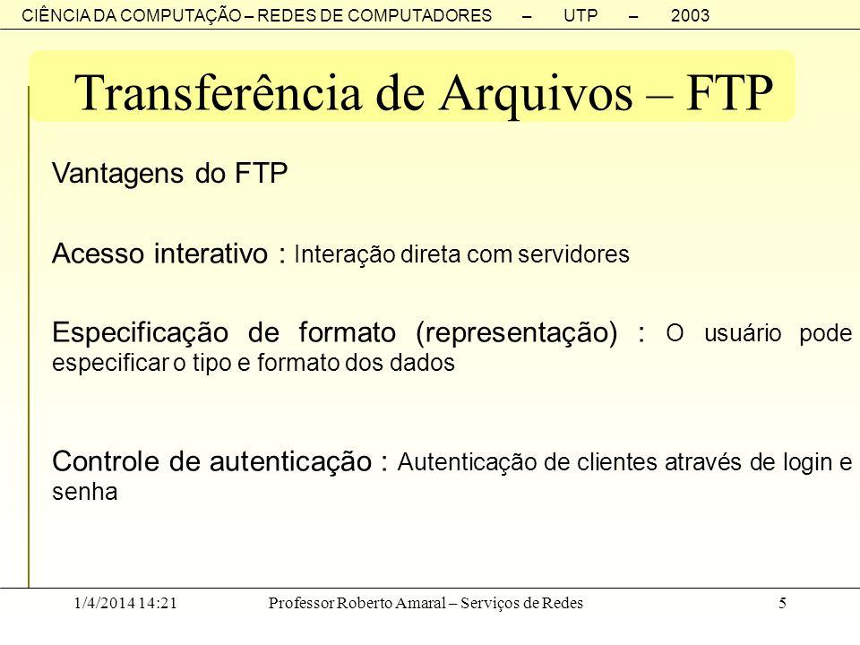Transferência de Arquivos – FTP
