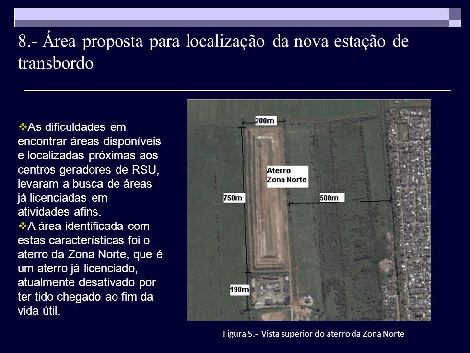 8.- Área proposta para localização da nova estação de transbordo