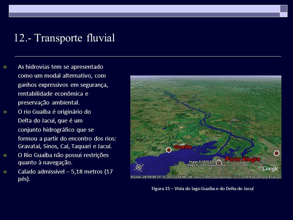 12.- Transporte fluvial As hidrovias tem se apresentado