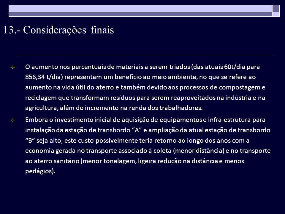 13.- Considerações finais
