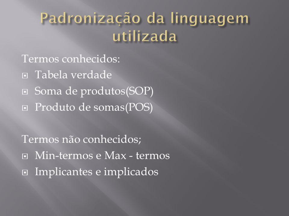 Padronização da linguagem utilizada