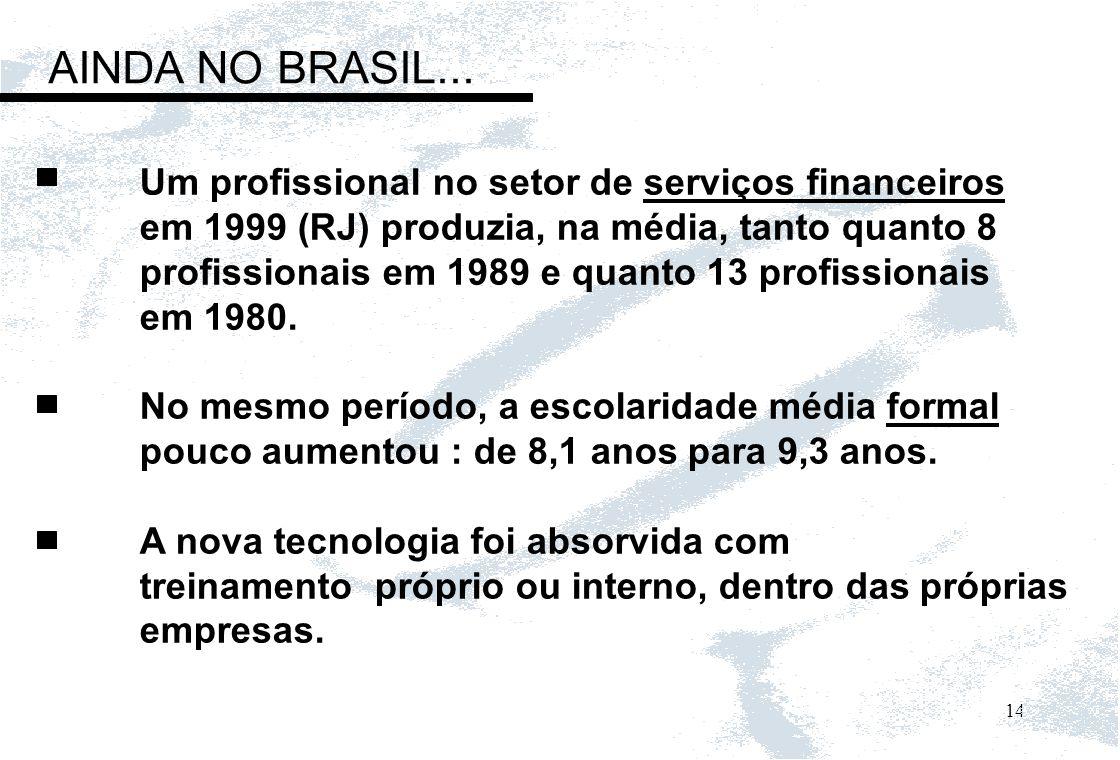 AINDA NO BRASIL... Um profissional no setor de serviços financeiros