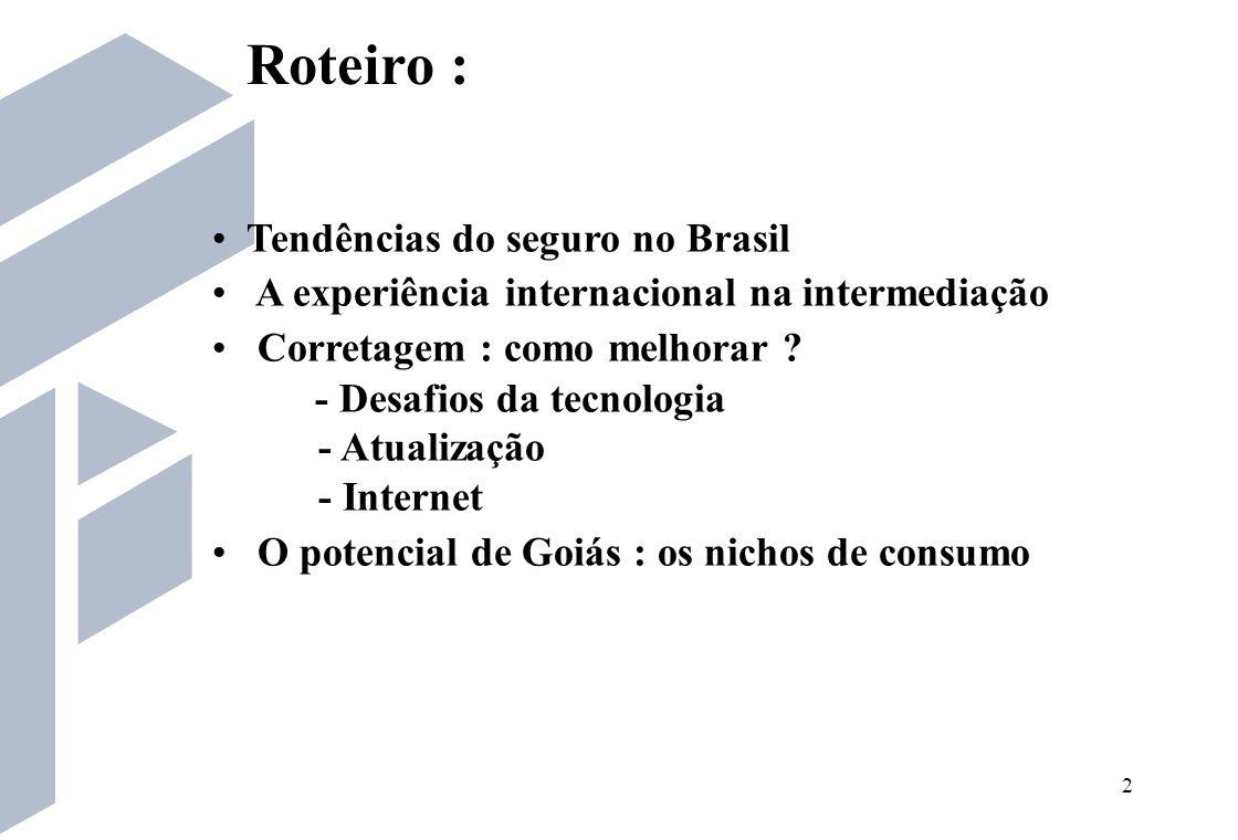 Roteiro : Tendências do seguro no Brasil