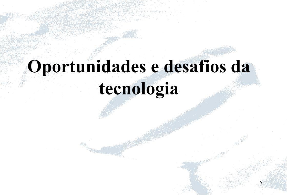 Oportunidades e desafios da tecnologia