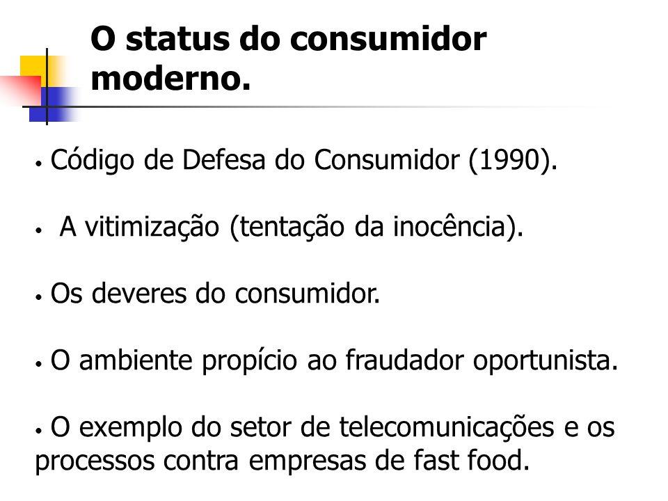 O status do consumidor moderno.