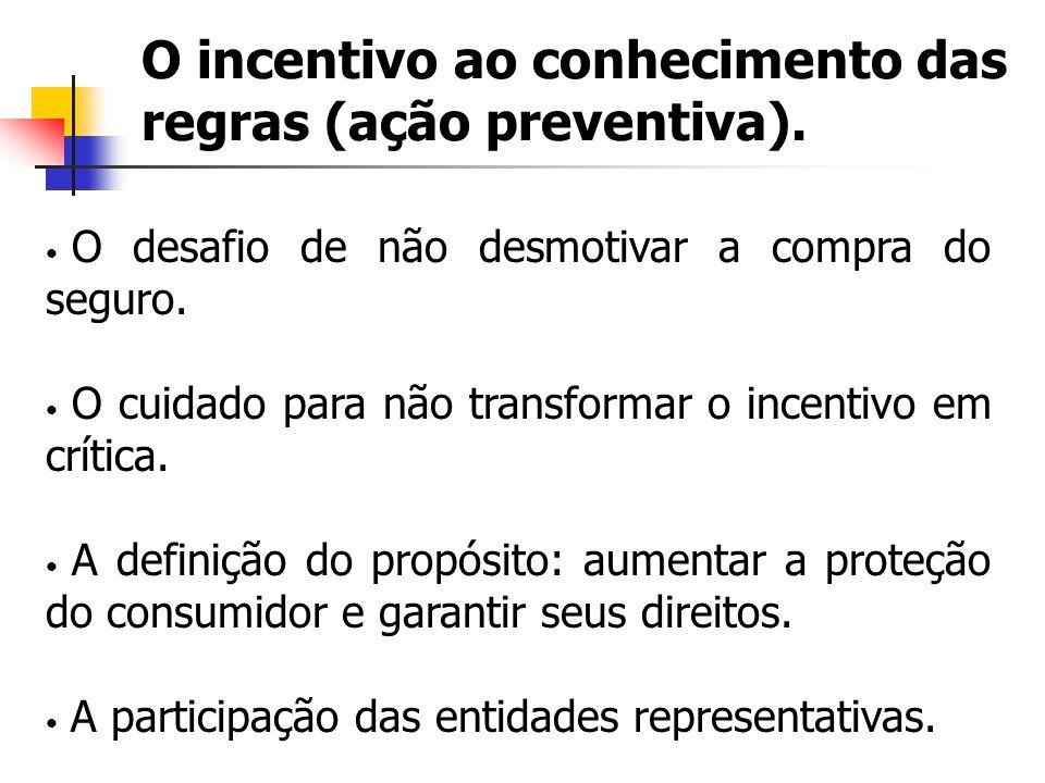 O incentivo ao conhecimento das regras (ação preventiva).