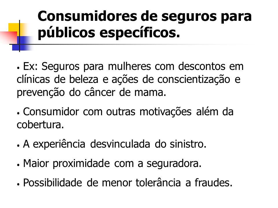 Consumidores de seguros para públicos específicos.