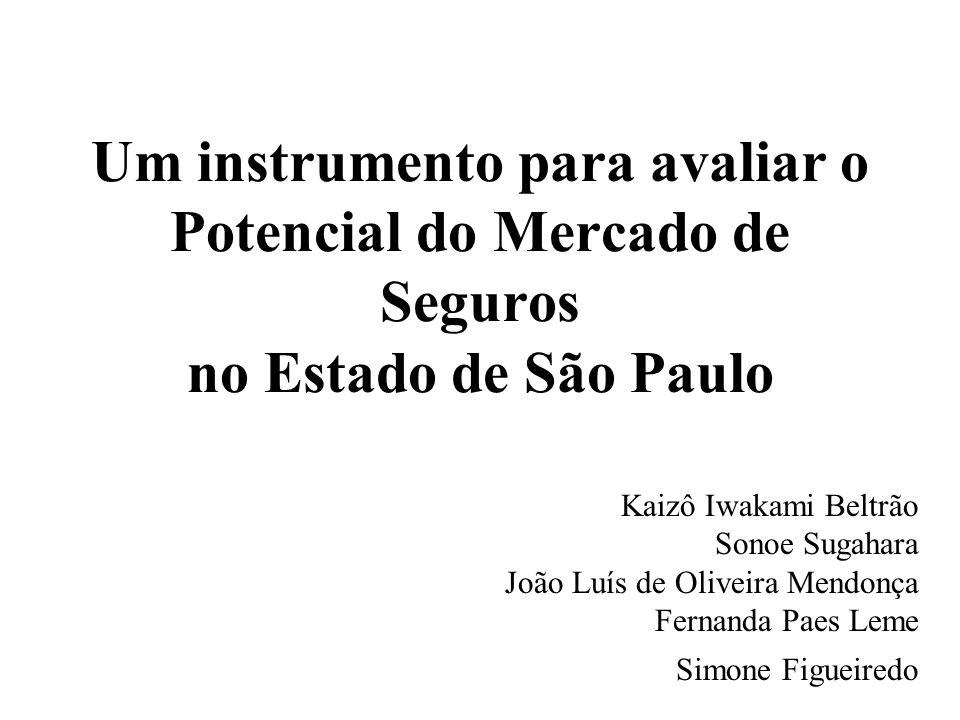 Um instrumento para avaliar o Potencial do Mercado de Seguros no Estado de São Paulo