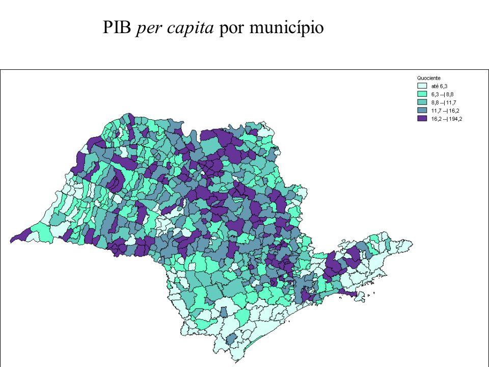 PIB per capita por município